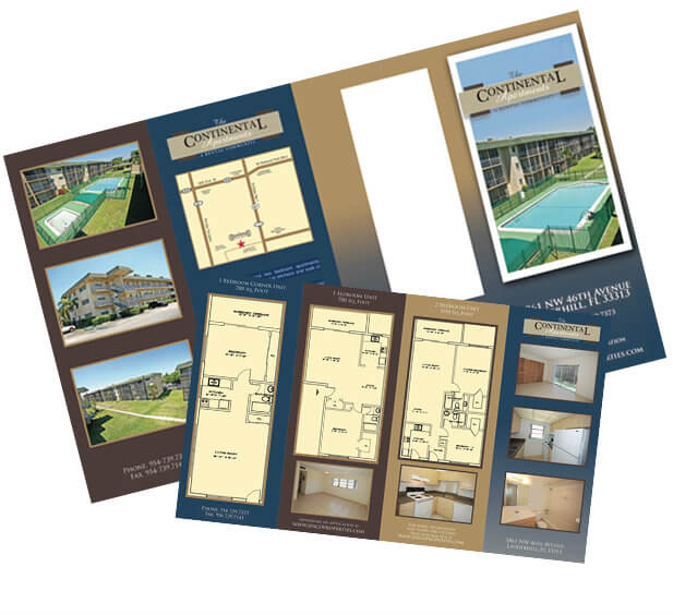 apartment brochure design. ContinentalBrochure- Apartment Brochure Design
