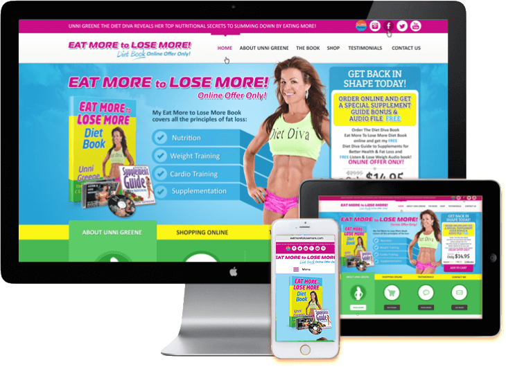 WordPress Fitness Web Site WooCommerce Shopping Cart