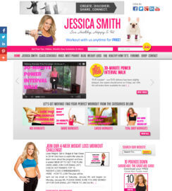 Fitness Web Design WordPress Web Site MindBody Heal Code Gym Web Site Fitness Trainer Web Site Design