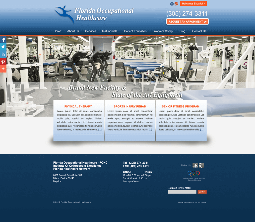 WordPress Medical Web Sites Miami Web Sites en Español