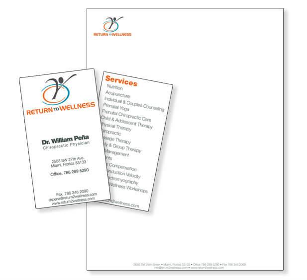 Medical business card design Stationery design