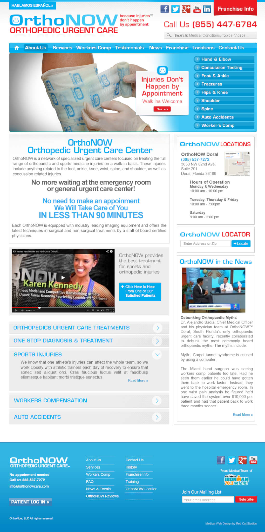 WordPress-Medical-web-sites-OrthoNOW