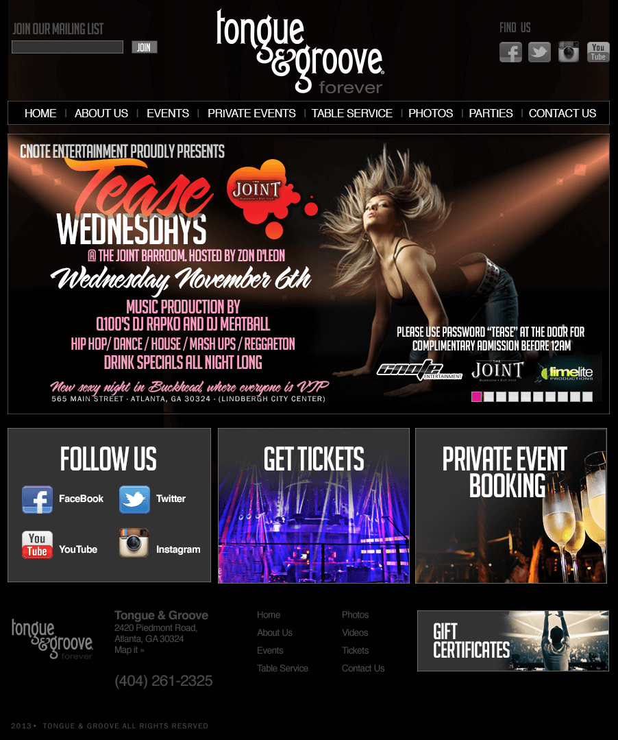 Tongue & Groove Night Club Atlanta