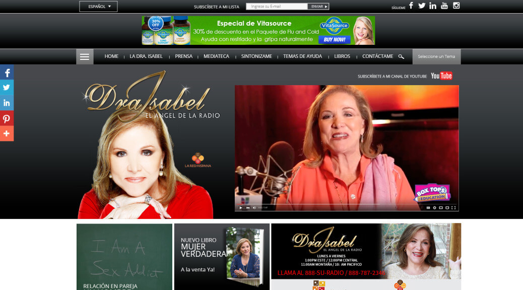 Miami WordPress Themes Dra Isabel Angel de la Radio