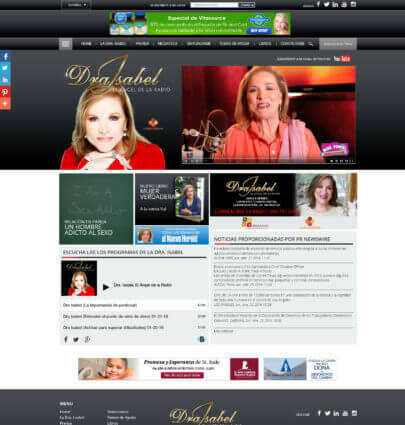 WordPress Themes Miami Dra Isabel Angel de la Radio