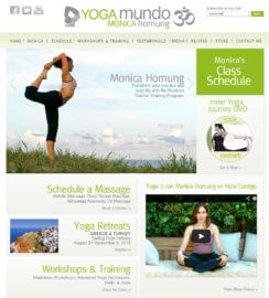 WordPress Yoga Web Site Design Heal Code Widget Integration MindBody Gym Studio Web Sites