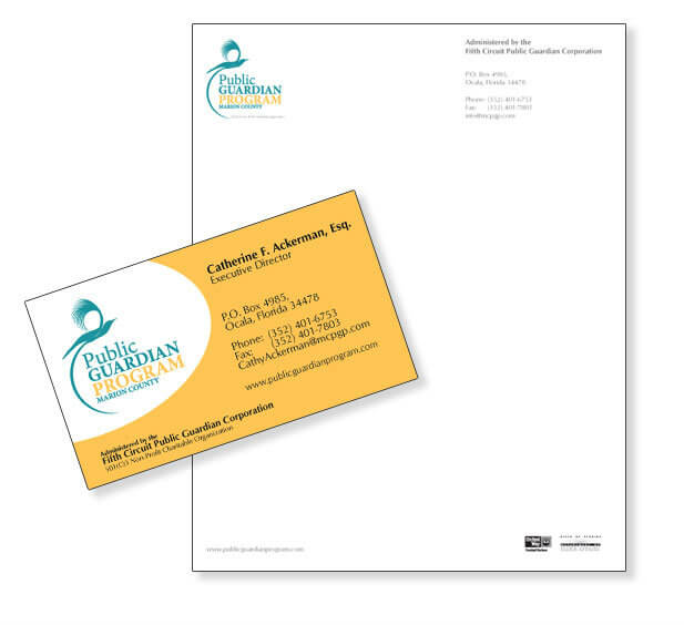 business card design non-profit organization