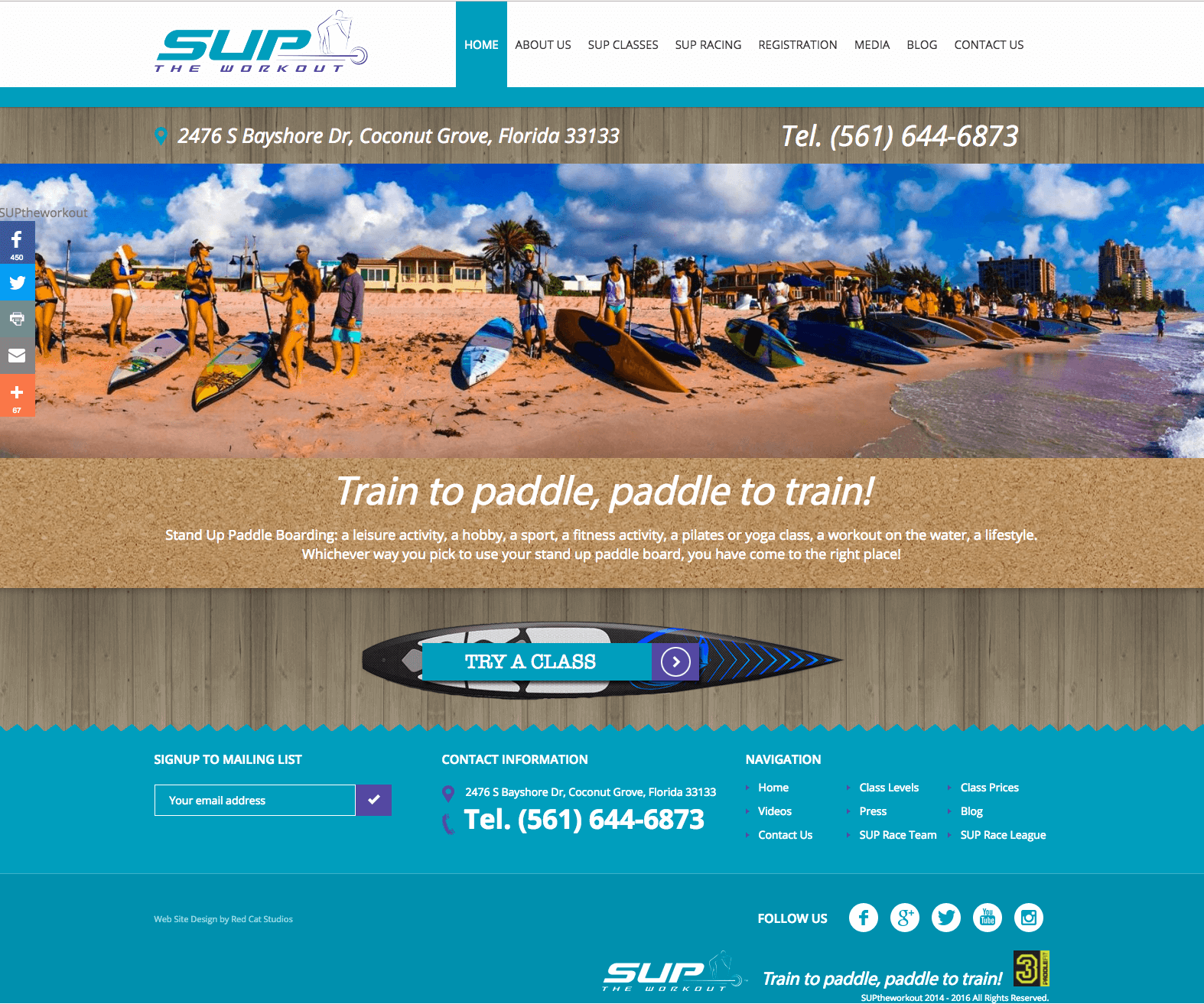 fitness web site design WordPress