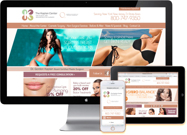 Responsive Web Site Design Plastic Surgeon Medical Web Design Medical WordPress Web Sites Miami