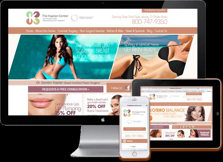Responsive Web Site Design Plastic Surgeon Medical Web Design Medical WordPress Web Sites Miami