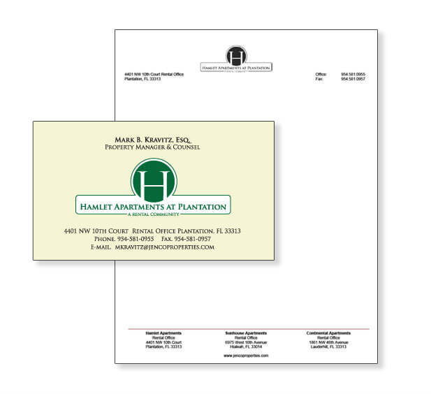 real estate miami business card design