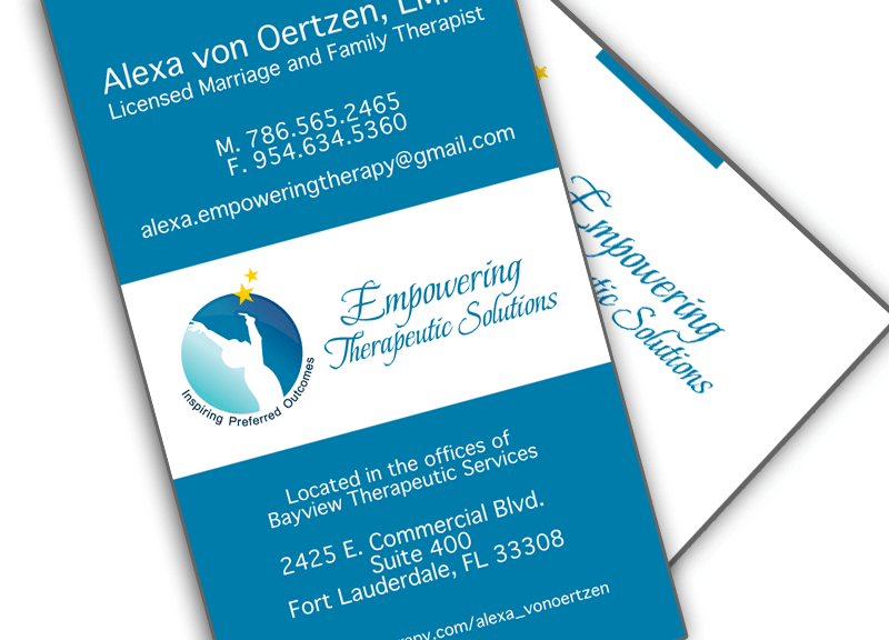 Miami Medical Business Card Design Double Sided Healthcare Business Card Design