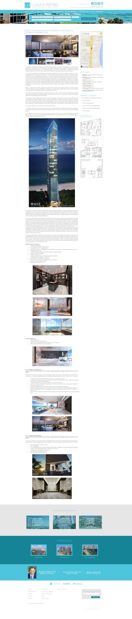 wordpress real estate web site Miami red cat studios