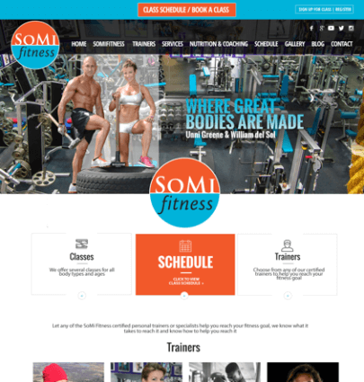fitness wordpress web site design