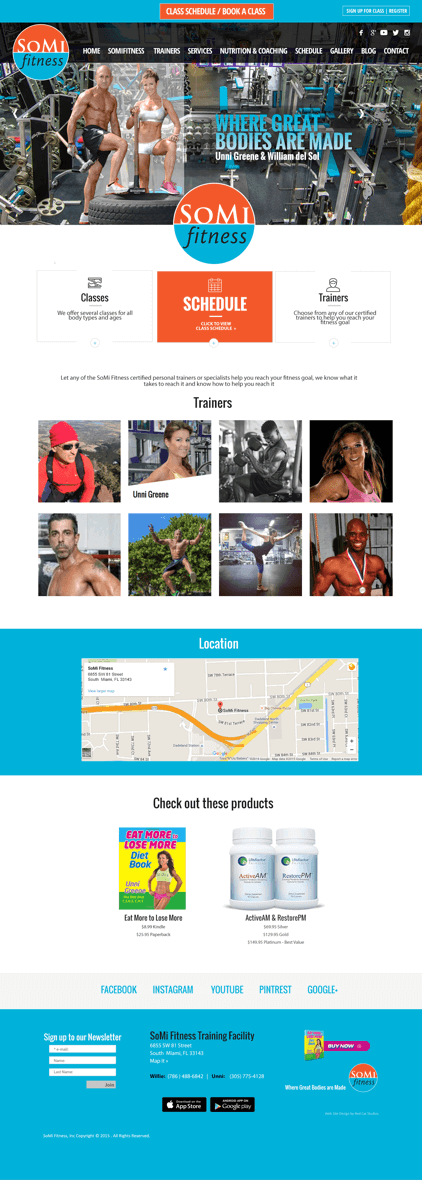 fitness wordpress web site design