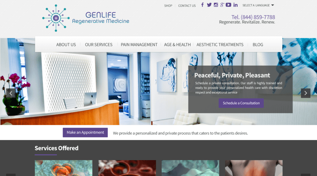 Medical WordPress Web Site Design