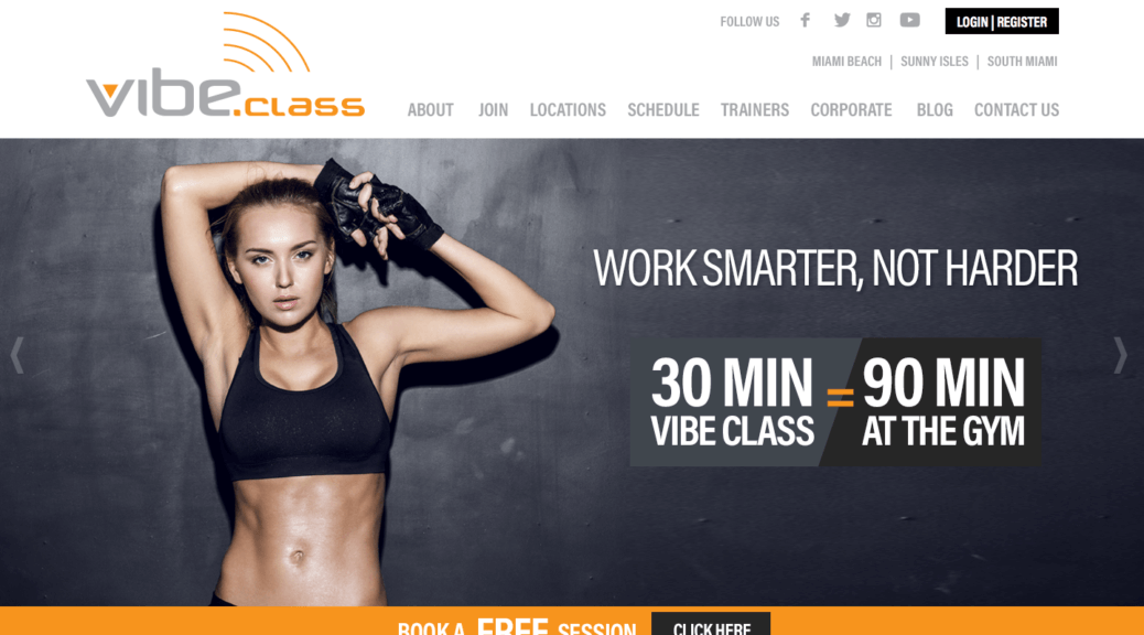 WordPress Gym web site design Miami