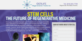 Landing pages on WordPress GenStem GenLife