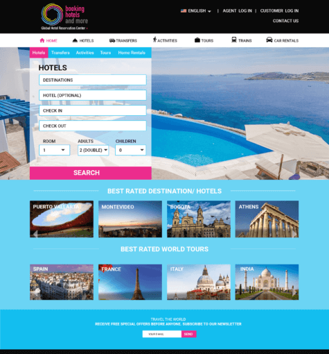 Booking Hotels and More