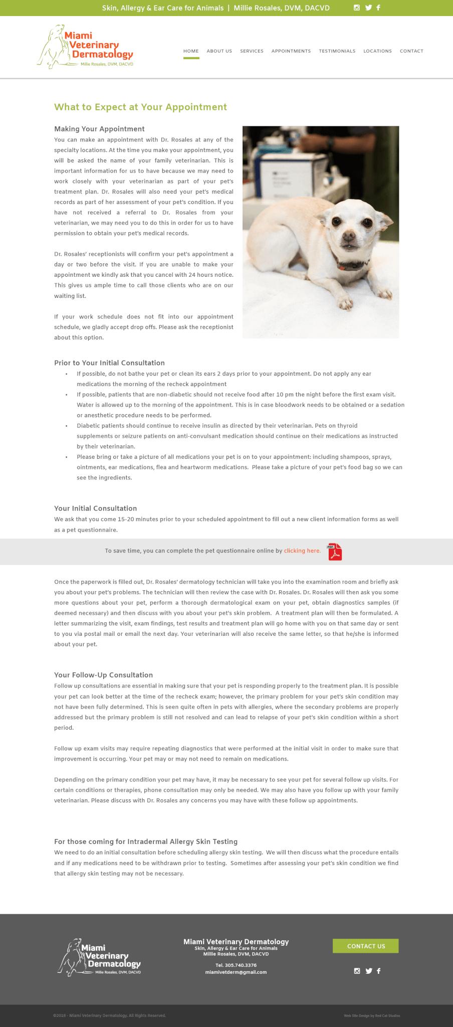 MIami Veterinarian Web Design