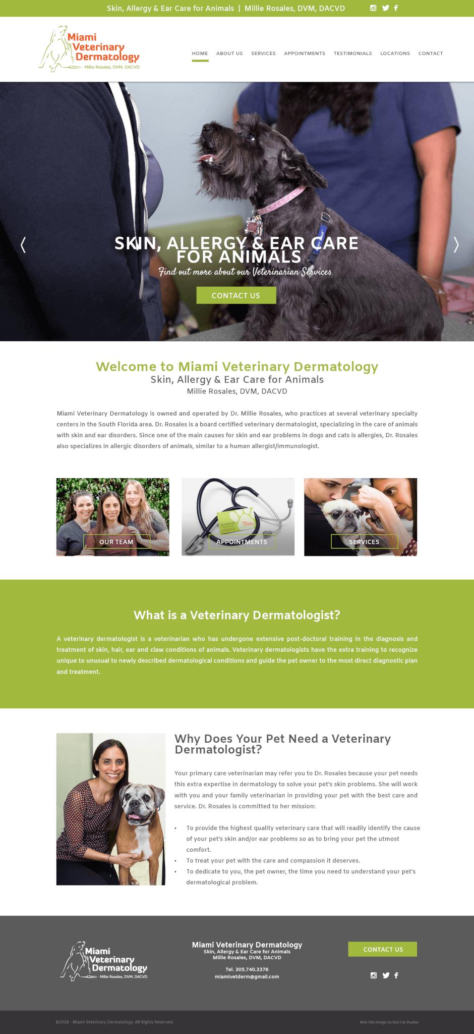Miami Veterinary WordPress Design