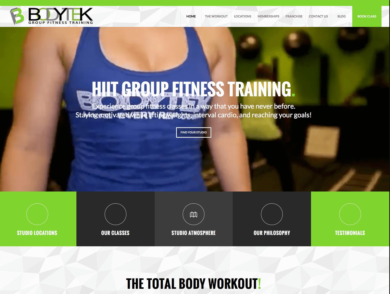 WordPress Gym web sites MIami